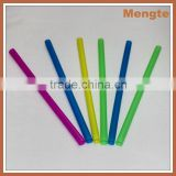 Mengte Hard Plastic Assorted Neon Bubble Straw