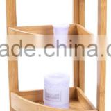 100% eco-friendly bamboo corner shelf Bathroom 4-Shelf Towel Storage Rack Shelving bathroom accessory
