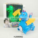 Battery Operated Toys Dinosaur, B/O Plastic Toys Flashing Dinosaur Animals, Electric Toys Music Animals