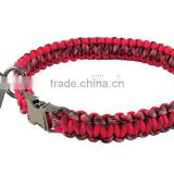 custom cobra paracord dog collar emergency survival dog tag handmade parachute rope dog collar