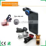 Universal clip 3 in 1 Fish eye lens Wide Angle Macro Camera Lens for Mobile Phone Colorful lenses