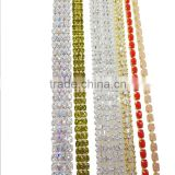 Wholesale Hot Glass Crystal Trimming Bling Cup Chain,Brass Claw Cup Chain Garment Accessories