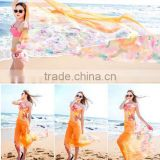Women Sexy Chiffon Wrap Pareo Dress Sarong Beach Swimwear Bikini Cover Up Scarf