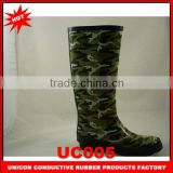2014 New Design fashion mens rubber boots rubber boots for men rubber boots men camouflage color UC005