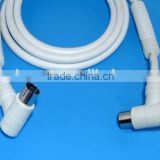 TV Antenna Cable RA Angle Pal male to Pal female 100% shielded with Ferrite for RF TV connection