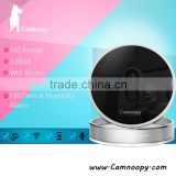 Camnoopy Temperature and humidity CE, FCC, Rohs, new design plug and play baby cam hd cctv wireless IP camera