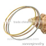 three tone stainless steel wire bangle