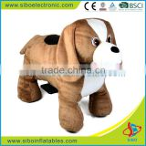 GM5915 coin operated plush ride on animal,battery operated animal ride from China