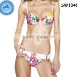 Domi wholesale hot sexy floral push-up adjustable straps transparent bikini,woman sex with animal photo,womens hot sex images