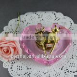 Newest Crystal Piano Music Box For Souvenirs & Home Decorations & Gifts.crystal music box with rose