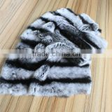 Factory Direct Sale High Quality Real Chinchilla Skin Rex Rabbit Fur Pelts for Coat