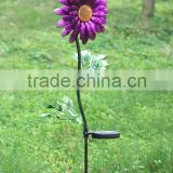 metal sunflower solar garden light