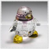 Cute Popular Colorful Penguin Crystal Decoration For Valentine's day Gifts