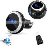 FM transmitter car automotive bluetooth kit MP3 player car audio with wireless remote control