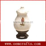 2014 New Product Wholesale Ceramic Rose Cremation Urn