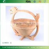 2015 Hot Sale Folding Chinese Dragon Shape Bamboo Basket For Food&Fruit