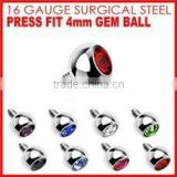 stainless steel balls jeweled ball body jewelry piercing