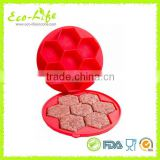 Wholesale BPA free Food grade 7 cavity Silicone Hamburger Mould, Silicone Burger Press Maker