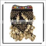 New Style! Gold Coins Beads Hip Belt For Belly Dance