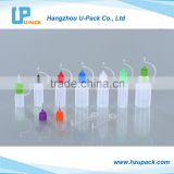 LDPE E-liquid dropper bottles with needle nose tip cap