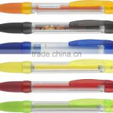 High quality cheap pull out banner pen/promotional ball point pen/advertising plastic gift pen LS Eplus
