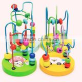 2015 Hot Children Baby Colorful plastic Mini Around Beads Educational Game Toy