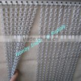 Matte Silver 12mm Hanging Aluminum Chain Link Curtain