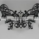 Black silver white Gold Metal Italy Venetian Mask Masquerade Rhinestones Filigree Butterfly