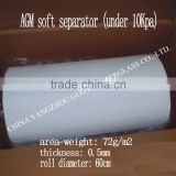 high quality AGM micro fiber tissue in big roll