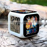 (High Quality)One Piece Colorful Clock Luffy LED Desk clock,Alarm Digital Clock,DIY Clock