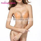 Free Sample High Quality New Sex Backless Strapless Invisible Magic Push Up Silicone Bra