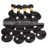 Tangle free body wave cheap malaysian virgin human hair extension