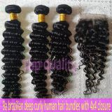 9a peruvian hair deep wave curly human hair bundles virgin hair natural color