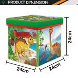 Wholesale 2 in 1 cloth foldable storage box dinosaur toys kid play mats