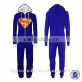 Adult Women Men Hooded Zip Jumpsuit Onesie Sleepwear Pajamas New                                                                         Quality Choice