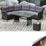 Modern Design All Weather corner Seating Comfortable Pe Rattan Garden And Living Room Sofa Set Furniture