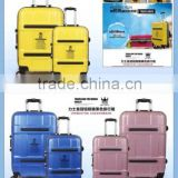 Aluminum buckle hardshell luggage set,abs/pc trolley luggage,luggage bag