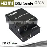 Full 1080p HD Video Audio 120m HDMI Extender Over TCP/IP with IR Remote control