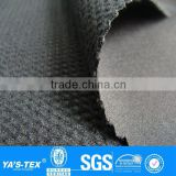 3 layers black mesh polar fleece laminated waterproof polyester spandex fabric for outdoor jacket