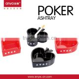 D537 High Quality Poker Set Melamine Heat Resistant Cigarette Promotion Gift Fancy Ashtray