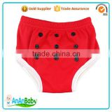 Boys Girls Plain Color Baby Pull-up Potty Training Pants With Absorbed 3 Layers