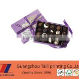 Customized paper candy gift box with compartments