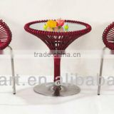 SGS Certified High Quality PE Rattan & Alum Coffee Table and Chair