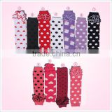 Wholesale stylish polka dot baby leg warmers with ruffles in stock                                                                                                         Supplier's Choice