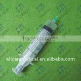 3 parts disposable syringe with needle