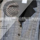 Plover case grid fabrics TR polyester/cotton elastic fabric all around women's jackets