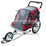 Baby bicycle trailer jogger with alloy foldable frame