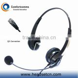 Binaural telecom headset with rj plug HSM-902NPQDRJ