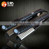 2015 new products hair dressing tools 2 in 1 LCD and lED unite flat iron hair straightener titanium SY-869