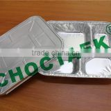 Disposable aluminum foil containers with lid